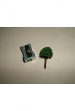 Bäume, Laubbäume dunkelgrün, kugelig 25mm Baum9